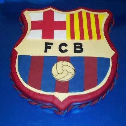 Tarta Barça cumple Marcos