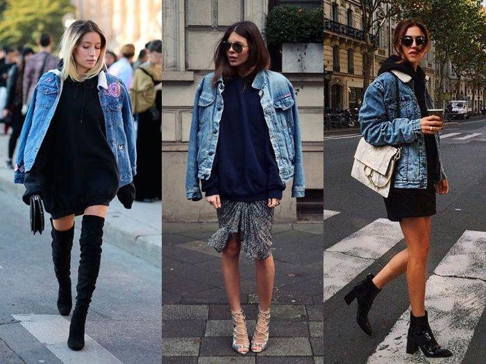Combo inverno: Jaqueta jeans com Moletom   Sutileza Feminina