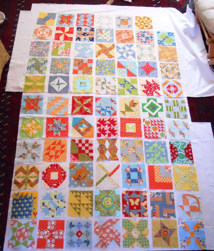 FWQAL progress  sampler quilt