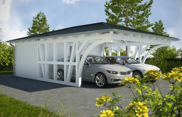Carport walmdach galerie scw garage port