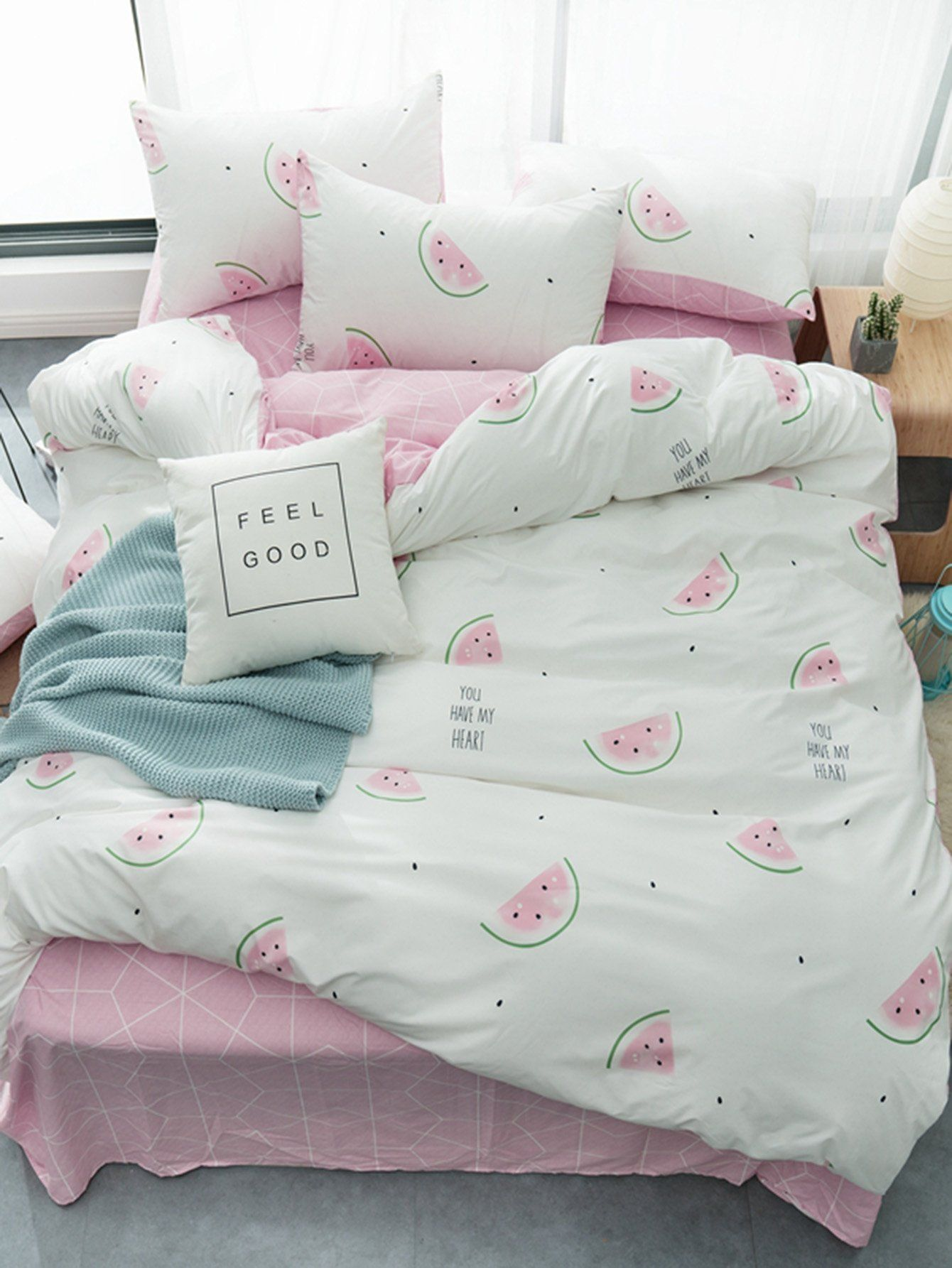 117b2ff160 Watermelon & Letter Print Sheet Set in 2019 | Kids rooms | Bedroom ...