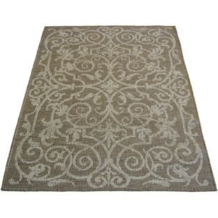 Buy Fairmont Flatwave Ornate Rug 80x150cm - Natural at Argos.co.uk - Your Online Shop for Rugs and mats.