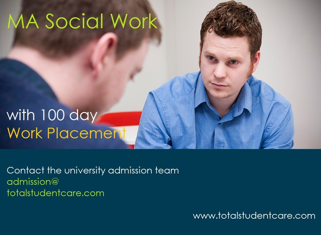 Study In The Uk Ma Social Work With Placement F International Students Admissions University Admissions