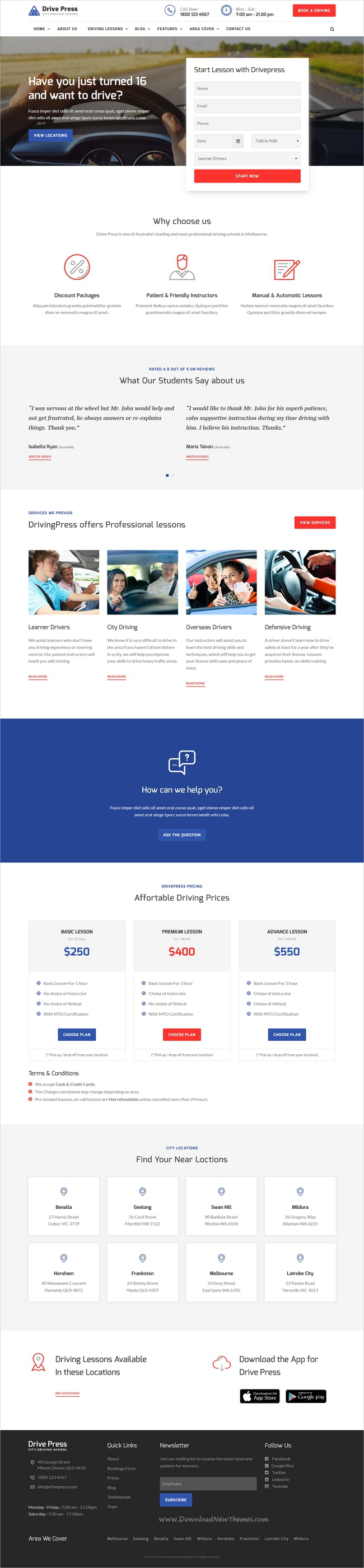 website templates for training institute