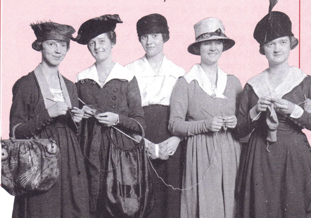 A knitting group circa 1916 Chicago Historical Society