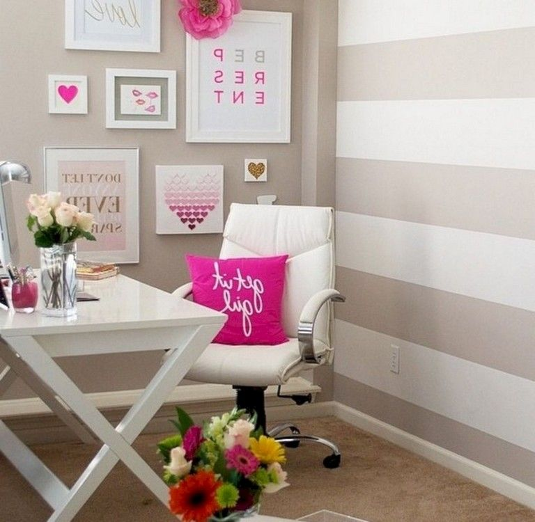 30 nice romantic pink home offices color scheme ideas on office color palette suggestions id=75697