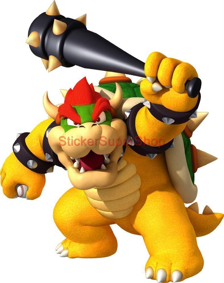 13 49 Choose Your Size Super Mario Bowser With Bat Decal