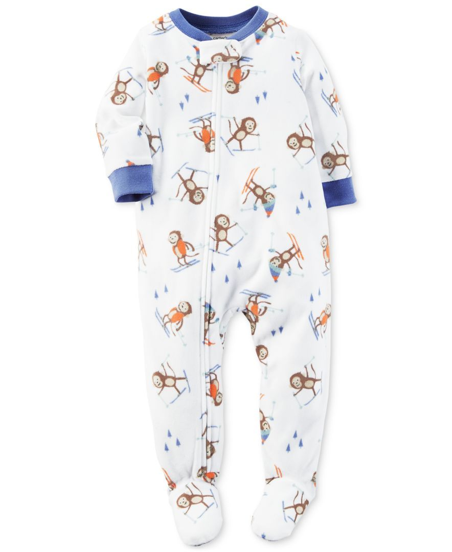 f66c09a9008d Carter s 1-Pc. Skiing Monkey-Print Footed Pajamas