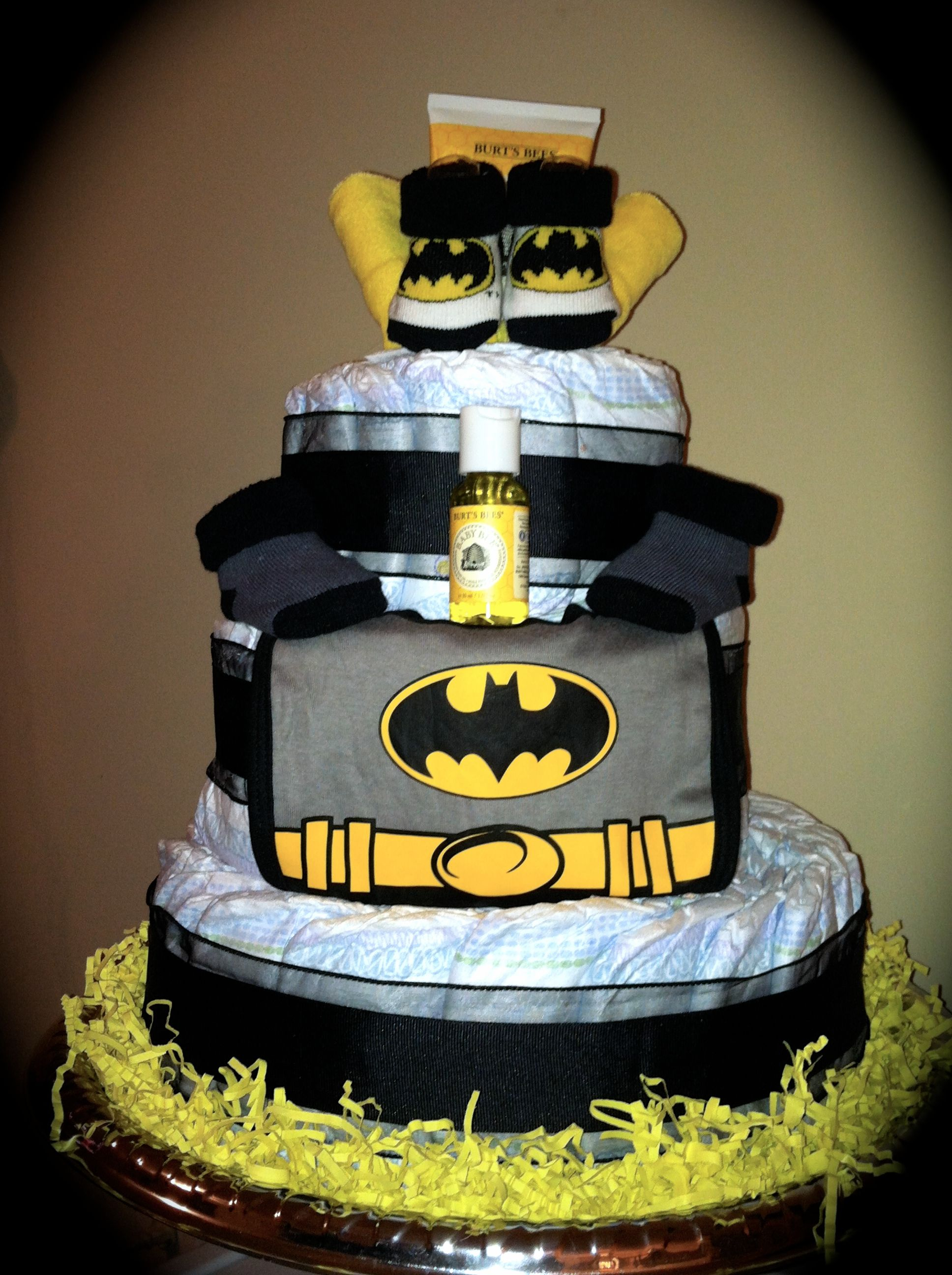 Simple Is Good Batman Themed Diapercakebybenita