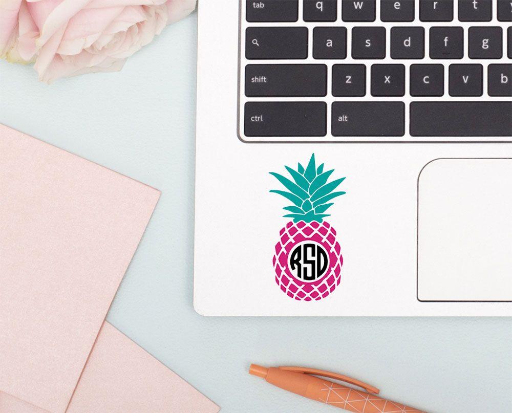 Pineapple Monogram Car Decal Pineapple Car Sticker Vinyl Etsy Pineapple Decal Monograms Pineapple Decal Computer Decal [ 807 x 1000 Pixel ]