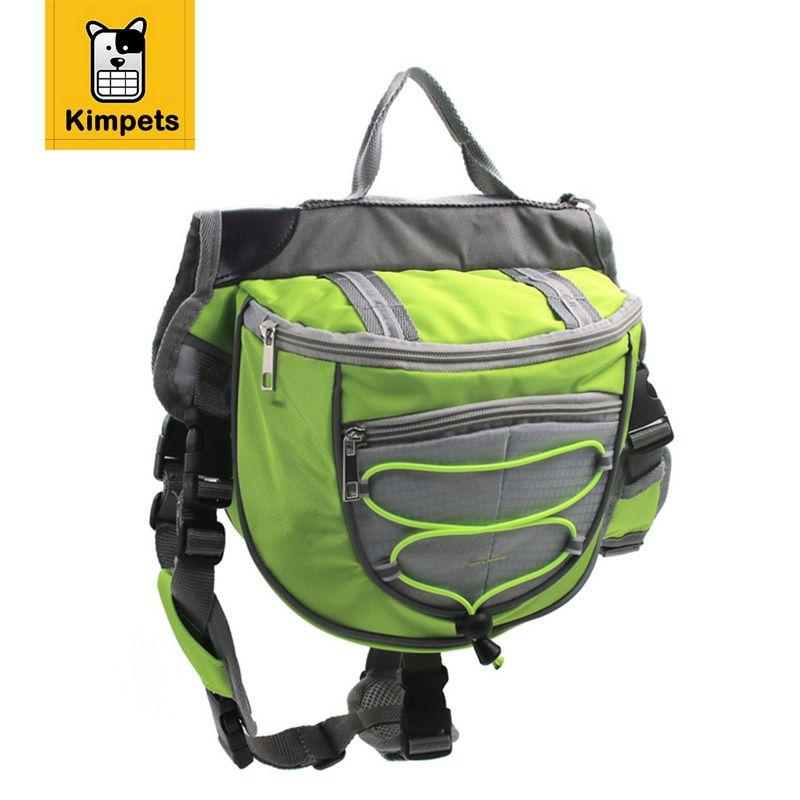 Kimpets Dog Saddle Backpack Exclusive Design Adjustable Pet Dog Travel Bag for Medium & Large Dog 3 Colors S/M/L Pet Supplies