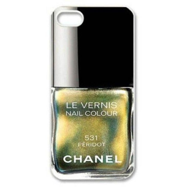 Gold Chanel Nail Paint Phone Cover ❤ liked on Polyvore featuring ...
