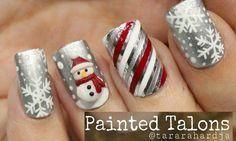 Decoracion Unas Navidad Christmas Nails Design Unas Pinterest - Decoracion-uas-navidad
