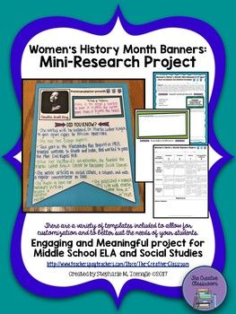 Women's History Month Banners: Mini-Research Project | Education