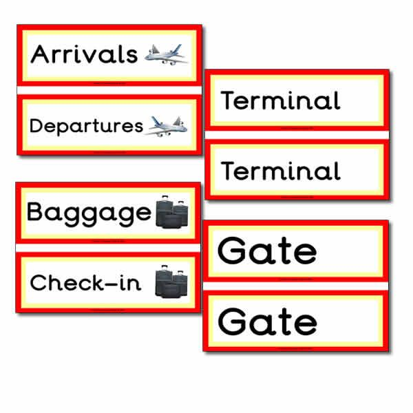 Airport Role Play Signs Classroom decoration Pinterest Role - printable fake airline tickets