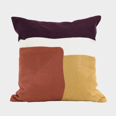 Modern Retro Geometric Decorative Embroidery Cushion Pillow Cover