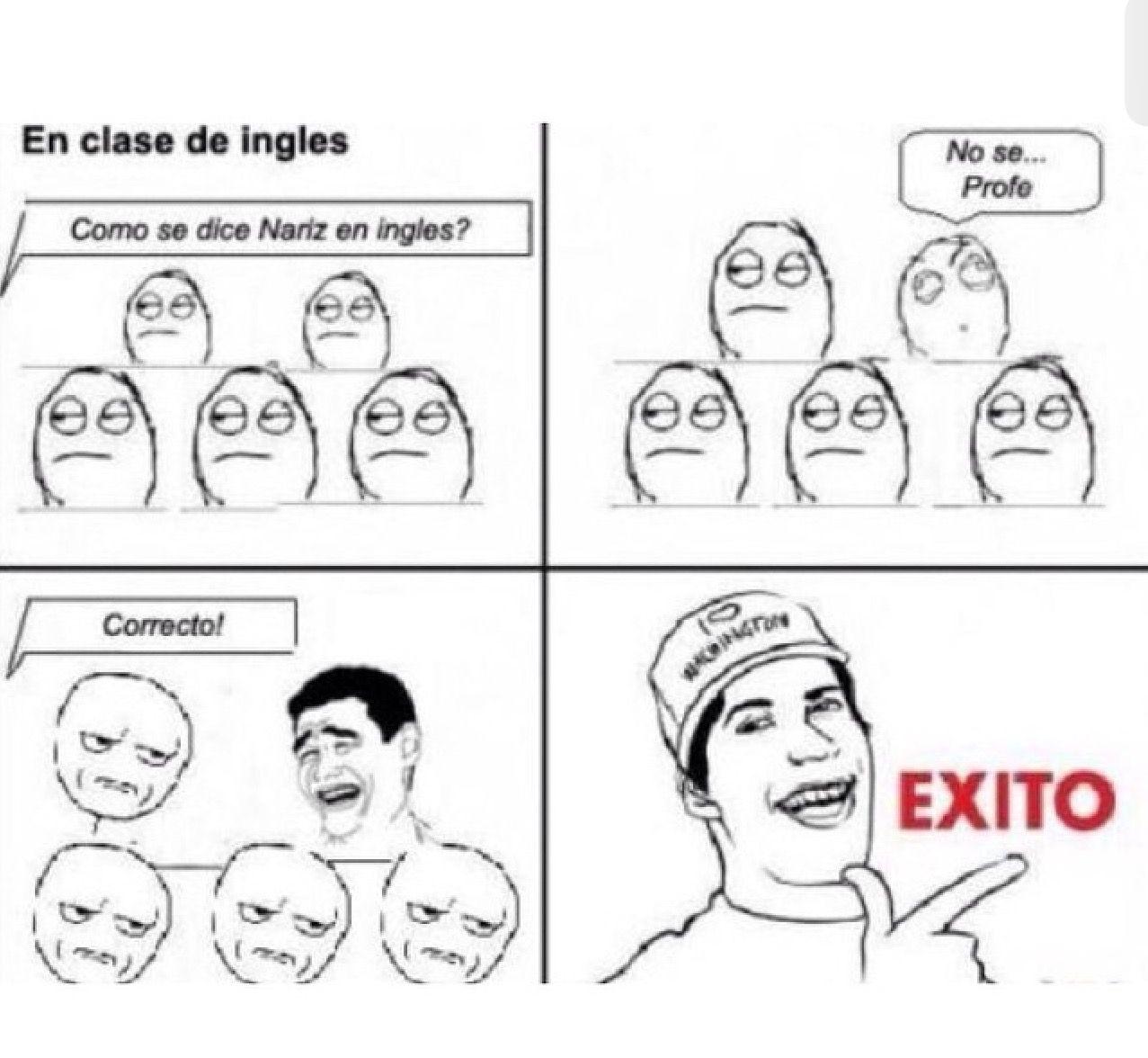 Pin De Jose Ceron En Humor Nariz En Ingles Memes Memes En Ingles