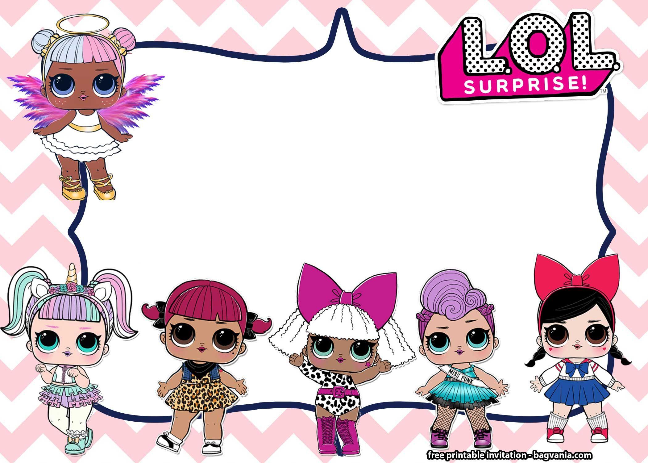 free lol surprise dolls invitation