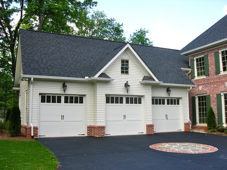 Three Garage Doors Westover 3 Bay Garage Garage Plans