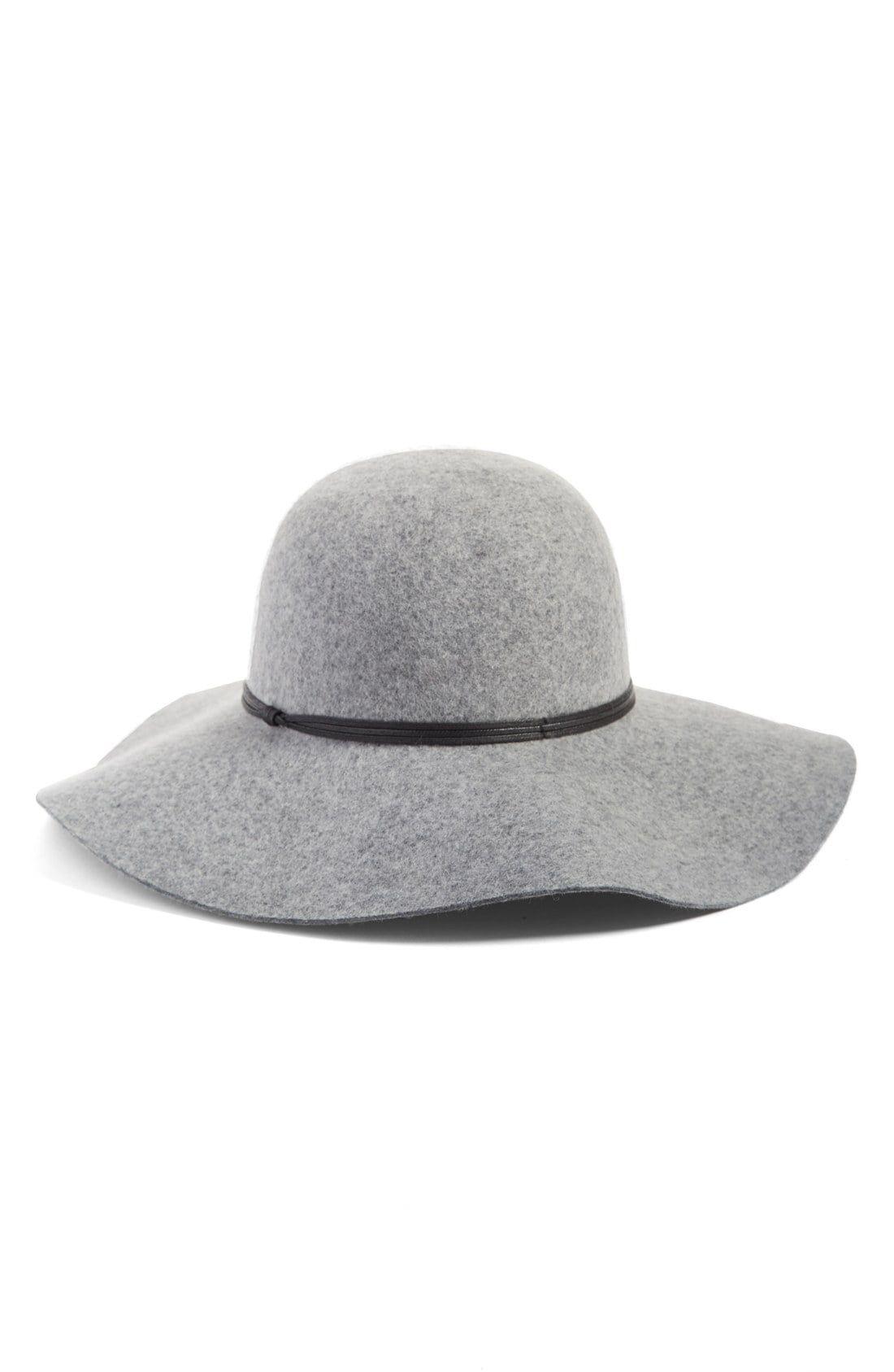 Women S Hinge Floppy Wool Hat Grey Floppy Wool Hat Women Hats
