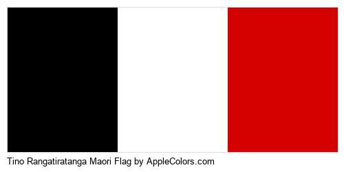 Maori Rangatiratanga Flag Flags World Tino Black White Red #000000 #ffffff #d50000
