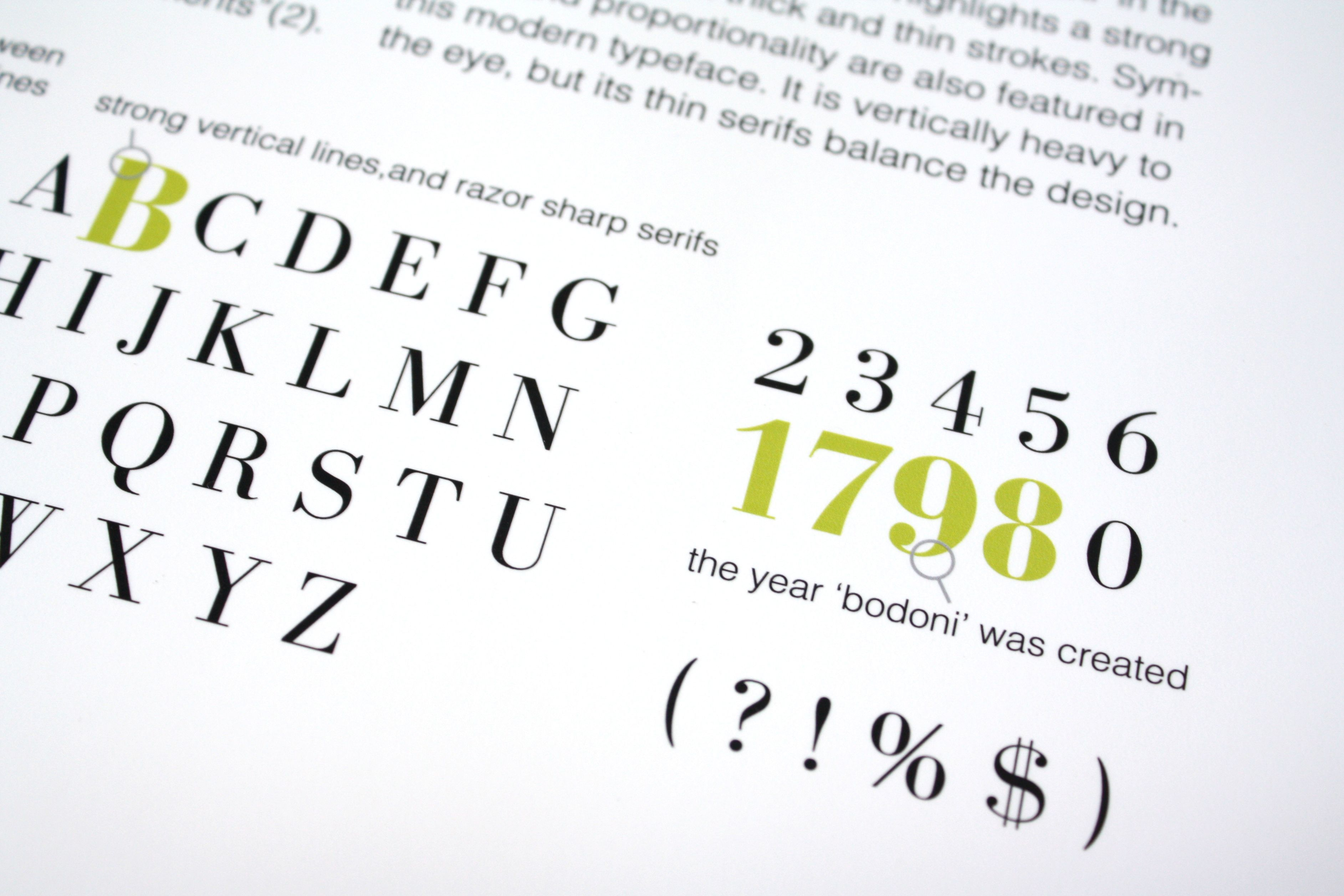 A poster highlighting the famous typographer Giambattista Bodoni.