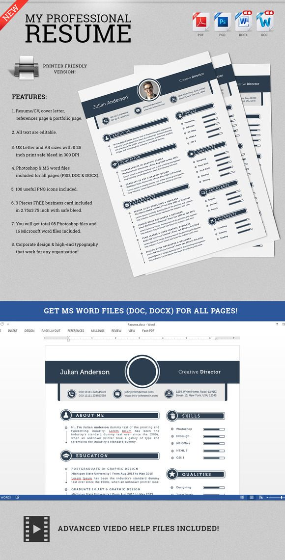 Check out My Professional Resume CV Set by SNIPESCIENTIST on