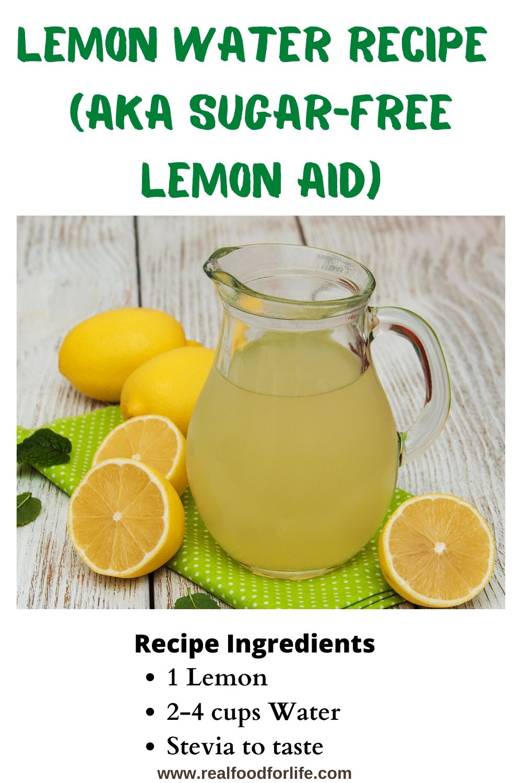Lemon Water Aka Sugar Free Lemon Aid Lemon Water Recipe Lemon Water Superfood Drinks