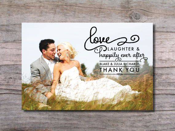 Hily Ever After Wedding Thank You Photo Card By Pinchofe 15 00