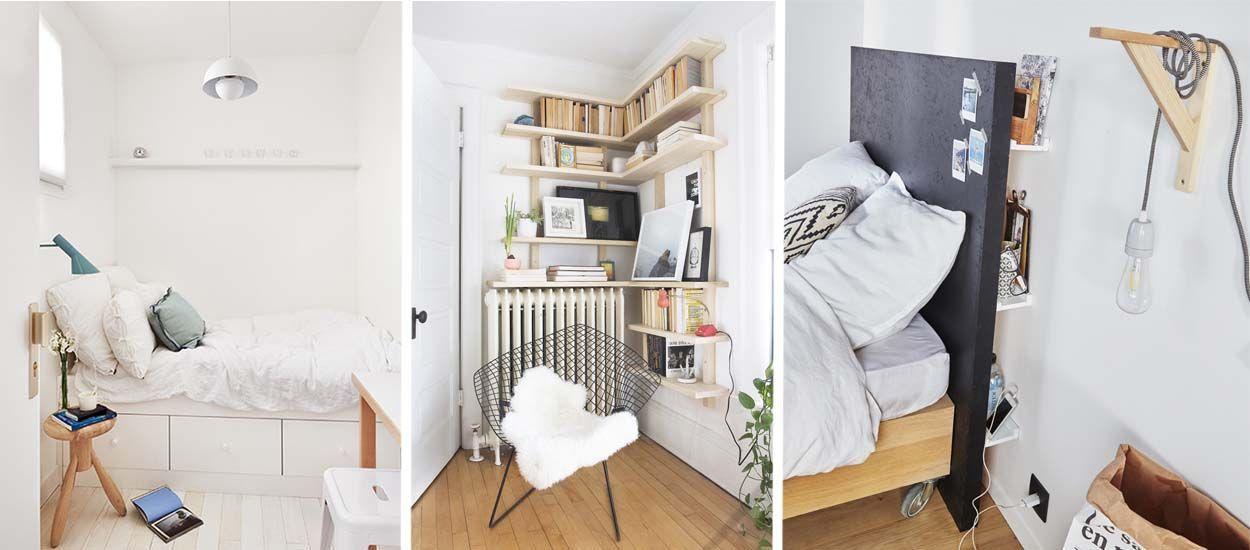 13 Astuces De Rangement Pour Optimiser Une Petite Chambre Astuce Rangement Decoration Interieure Et Rangement