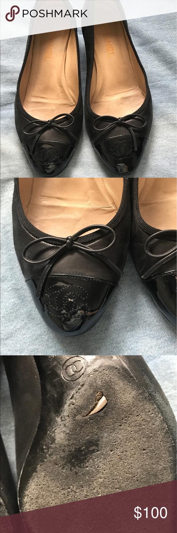 b40a6c8061fb Chanel women black shoes size 40 Chanel beautiful shoe the bottom of the  shoe has a