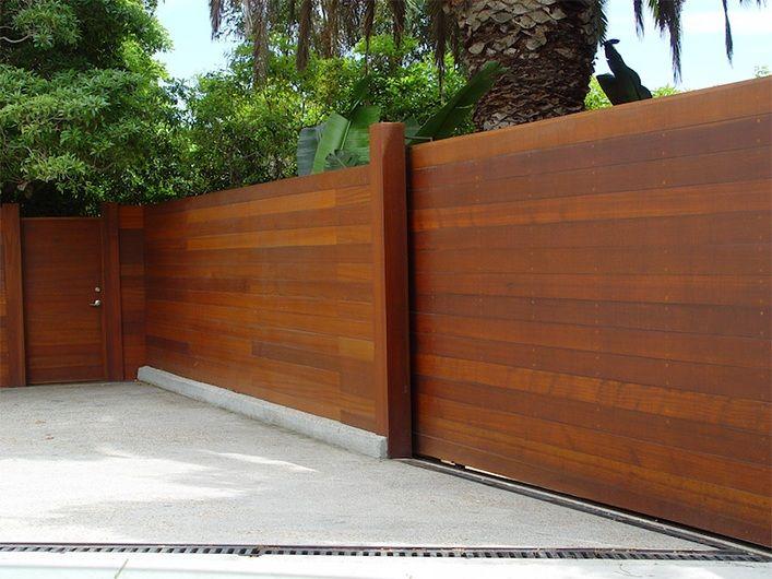 horizontal wood fence - Horizontal Wooden Fence Modern Horizontal Wood Fence Panels
