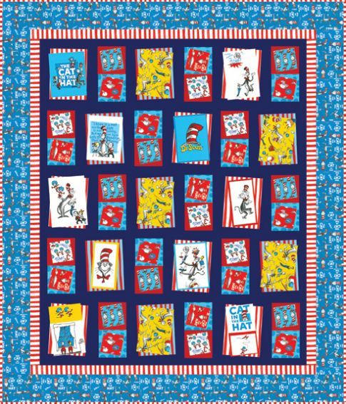 6d02804b Free pattern for Cat in the Hat quilt. Love the border of red and white  followed by the blue background cat in hat. Try this on my quilt.
