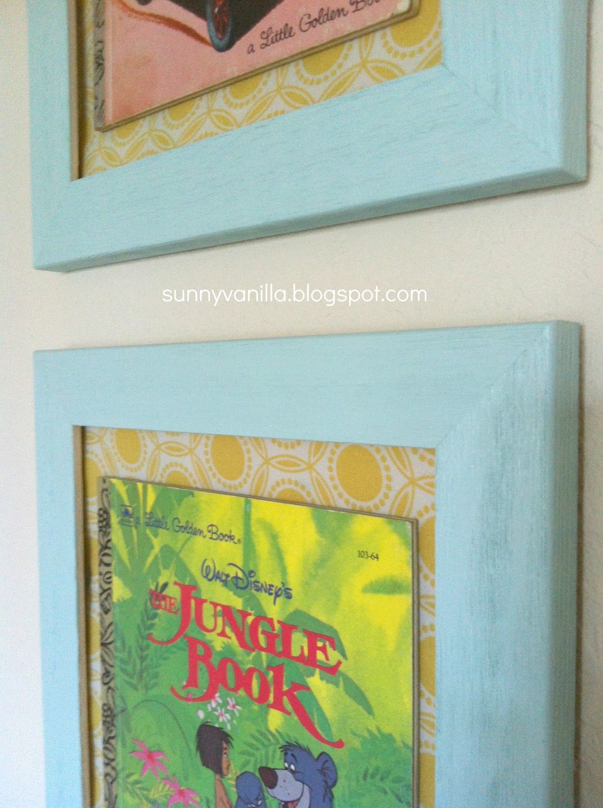 Sunny Vanilla: How to frame a book - A Little Golden Book   Lets get ...