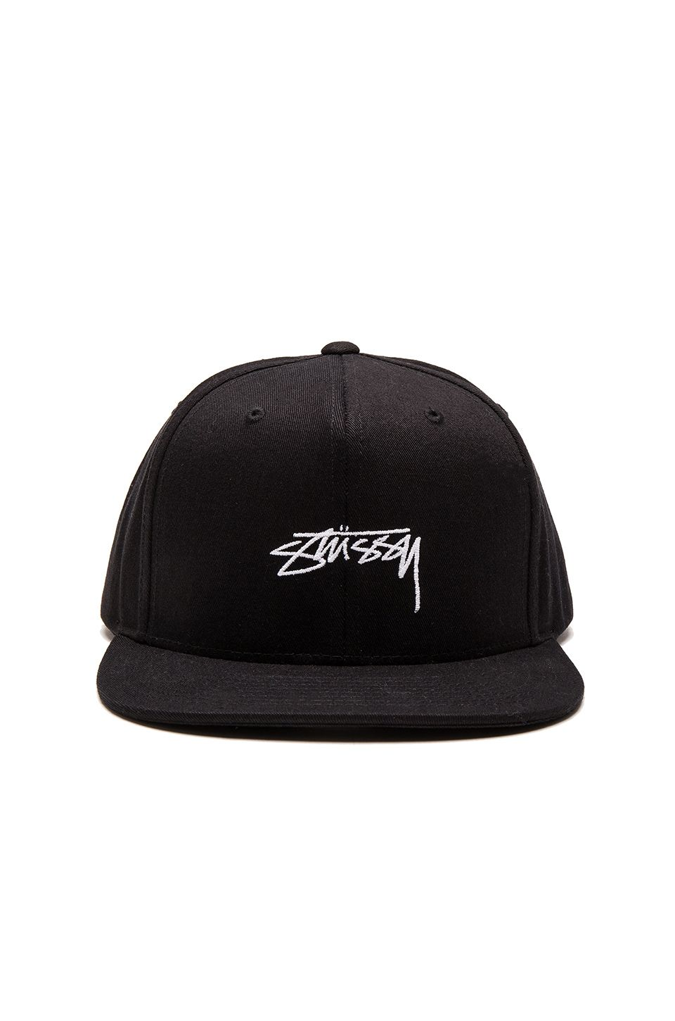 6167b49b1fb Stussy Smooth Stock Enzyme Snapback in Black