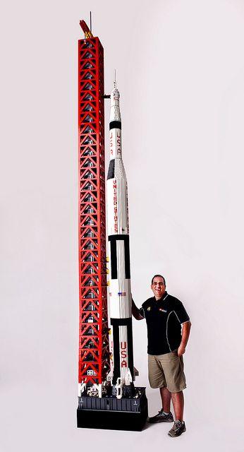 Image result for 19 Foot replica of Saturn V Rocket. lego