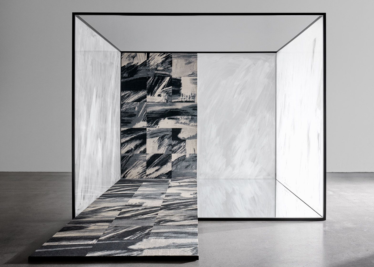 The Wash carpet by Tom Dixon features painterly strokes of ...