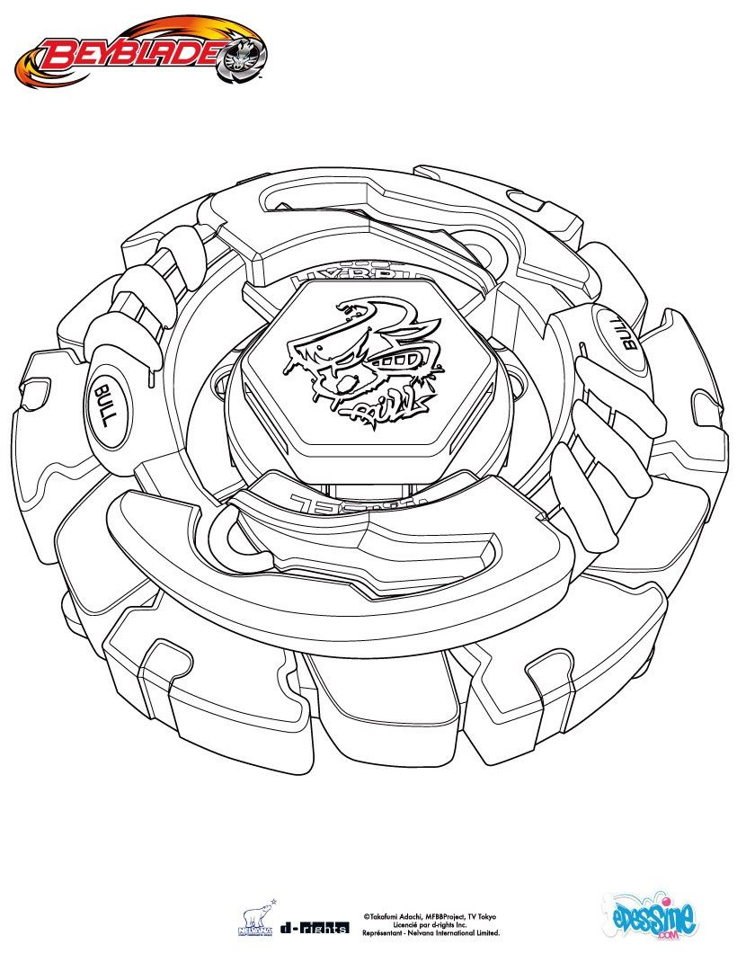 Pegasus Beyblade anime coloring pages for kids, printable free ...