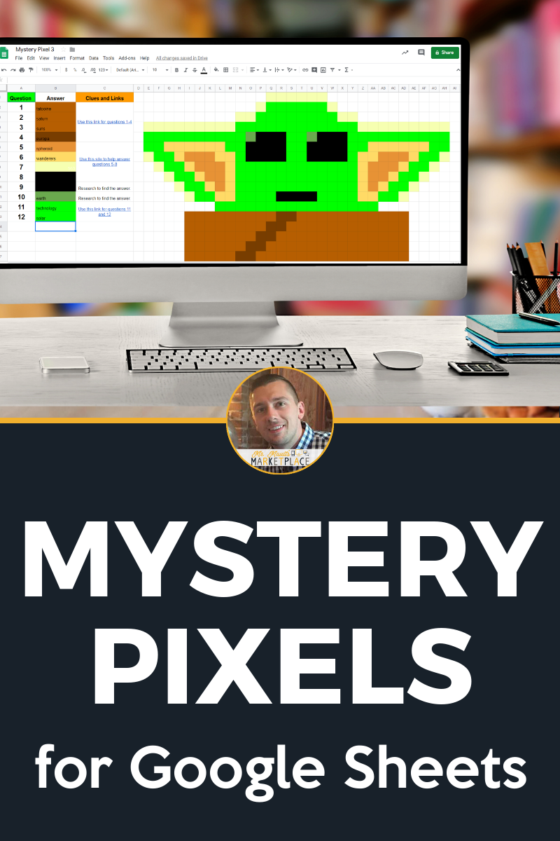 Mystery Pixel Research Activities for Google Sheets and