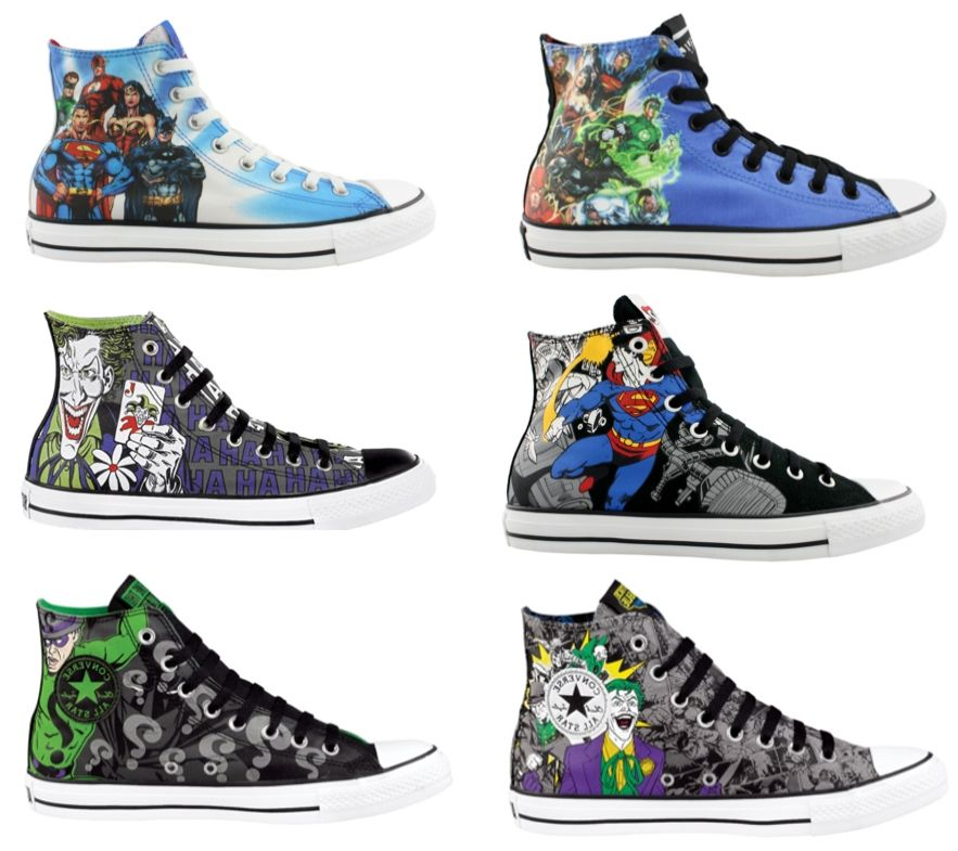 DC and Converse are putting out some themed shoes They look