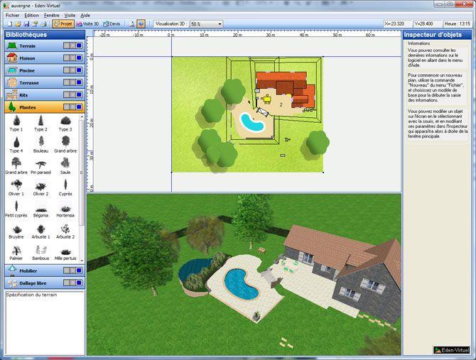 Créer son jardin - Eden Virtuel 3D Extérieur - jardin Pinterest