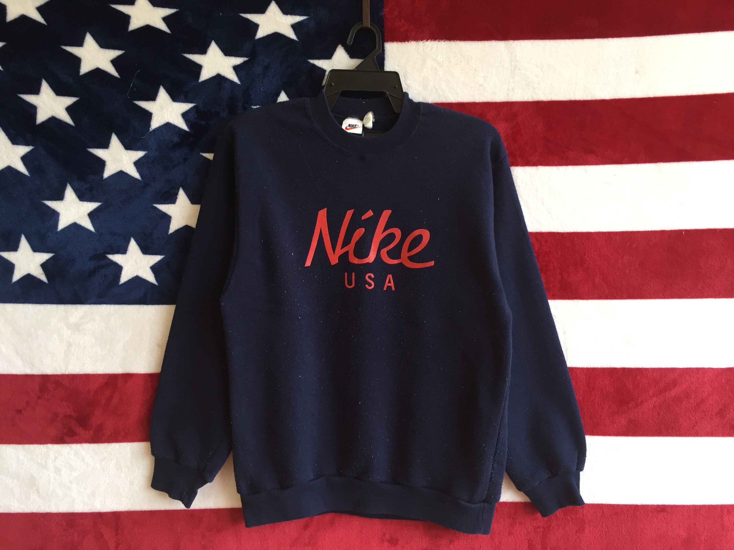Excited To Share The Latest Addition To My Etsy Shop Vintage 90s Nike Usa Sweatshirt Blue Navy Colour Nike Usa Sweater Pul Usa Sweater Usa Sweatshirt Clothes [ 2250 x 3000 Pixel ]