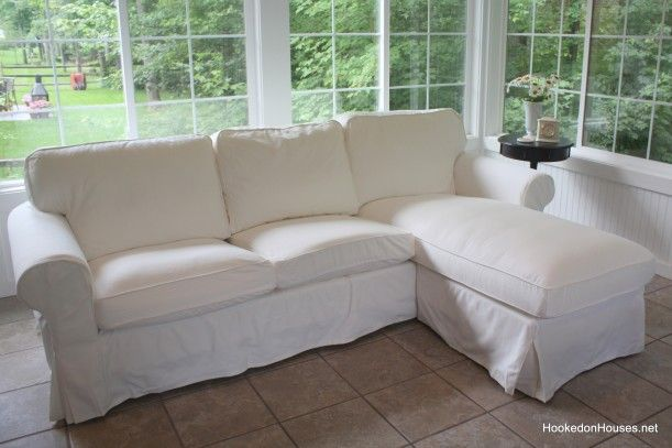 Decorating Update A New Sofa in My Sunroom : ikea ektorp sofa with chaise - Sectionals, Sofas & Couches