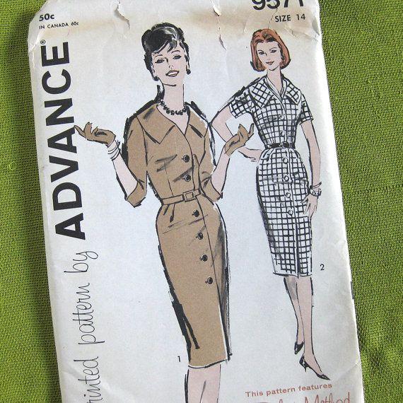1960s Vintage Sewing Pattern Misses' Three Quarter by SelvedgeShop