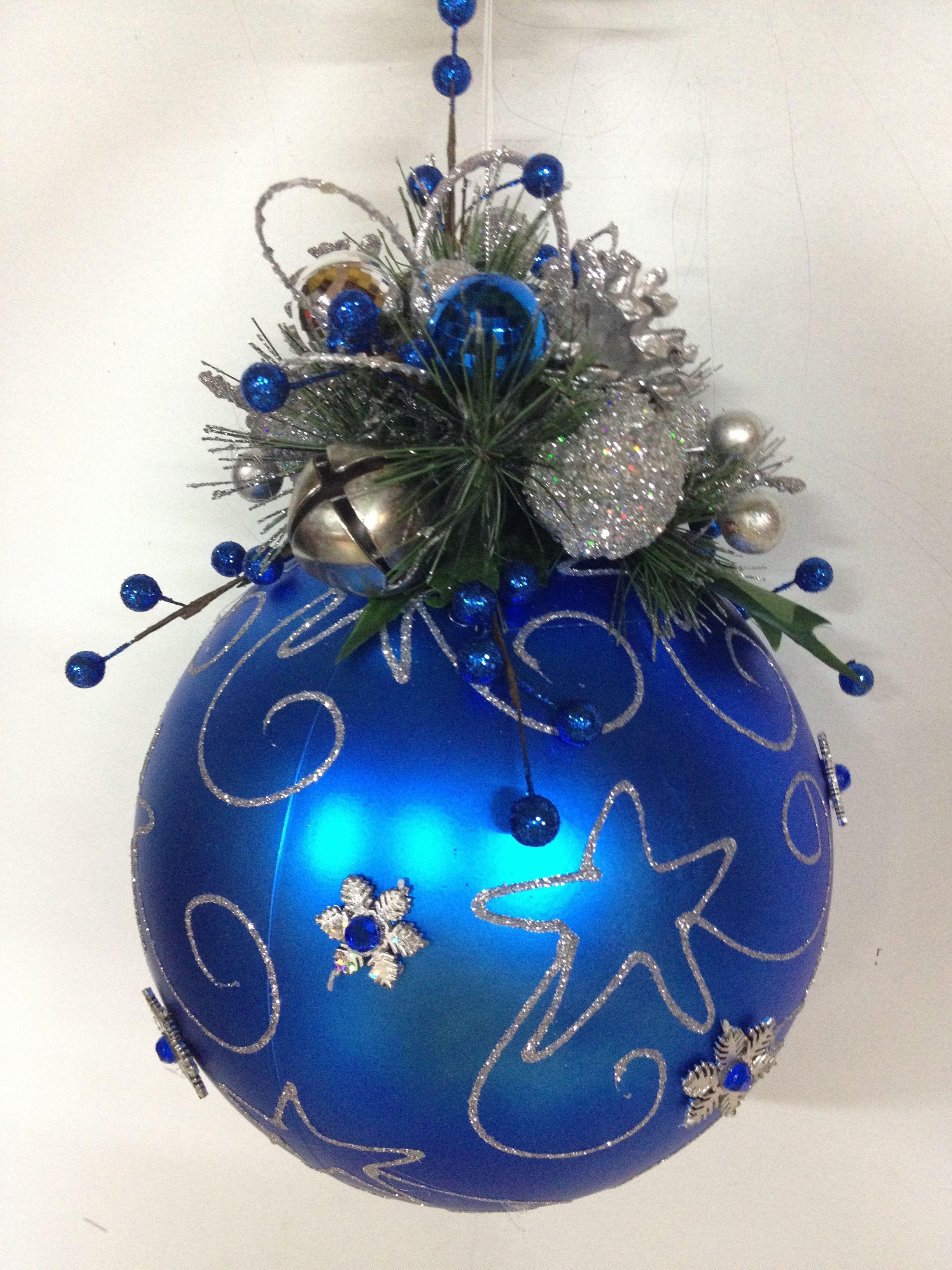 Blue Jingle Ball By Shari Blue Christmas Ornaments Blue Christmas Tree Christmas Ornaments