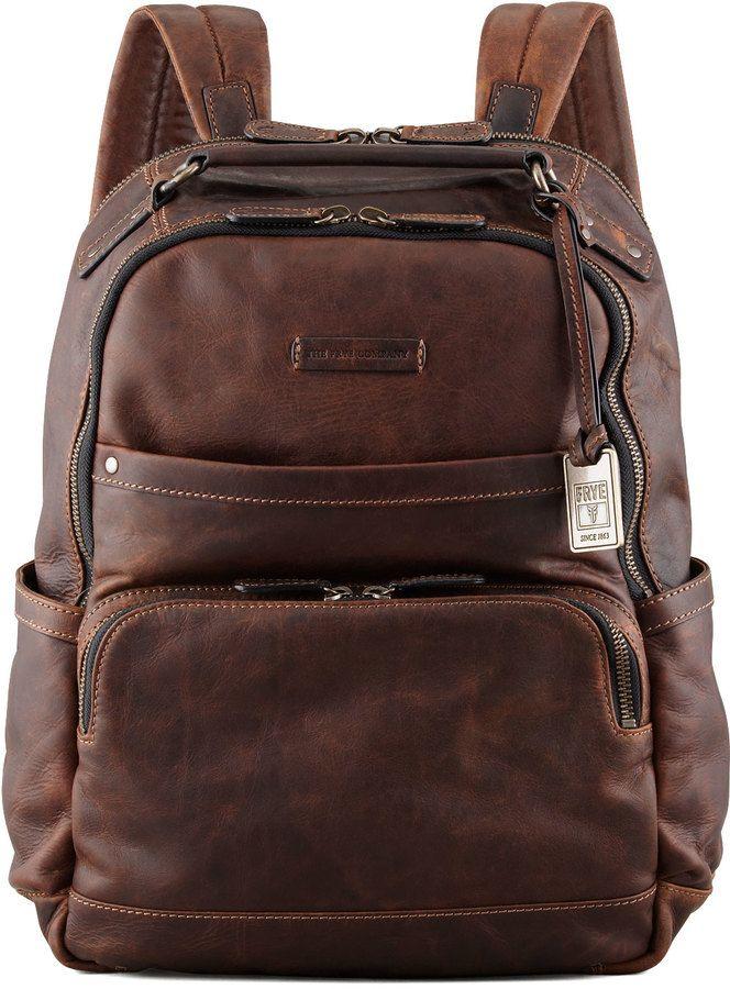 Logan Leather Backpack | Brown leather backpack, Dark brown ...