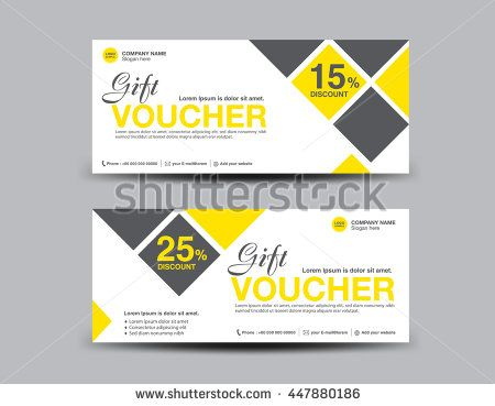 Yellow Discount Voucher template flyer design polygon background - entry ticket template