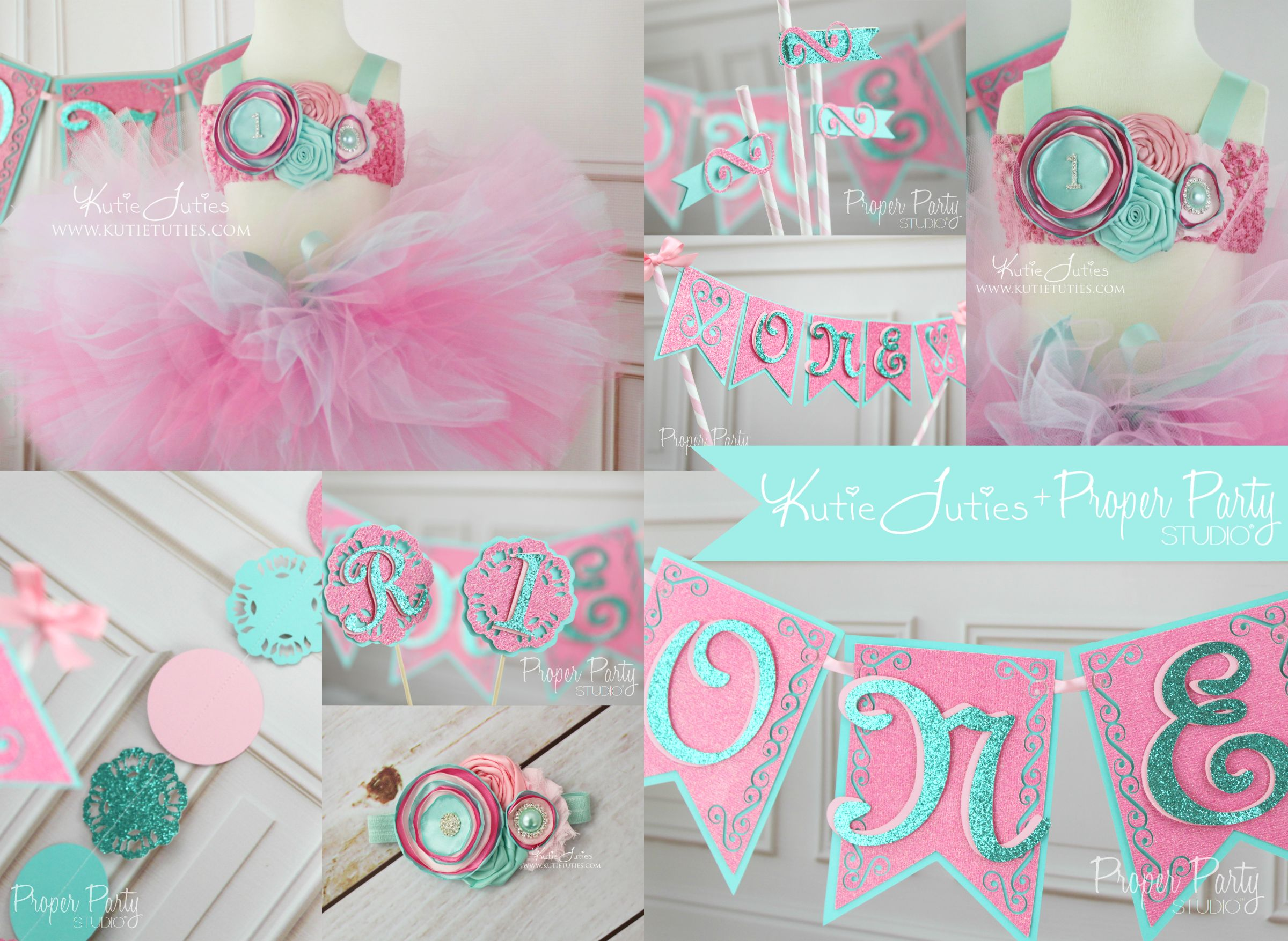 Custom Pink, Hot Pink, Pink And Aqua, Cotton Candy 1St