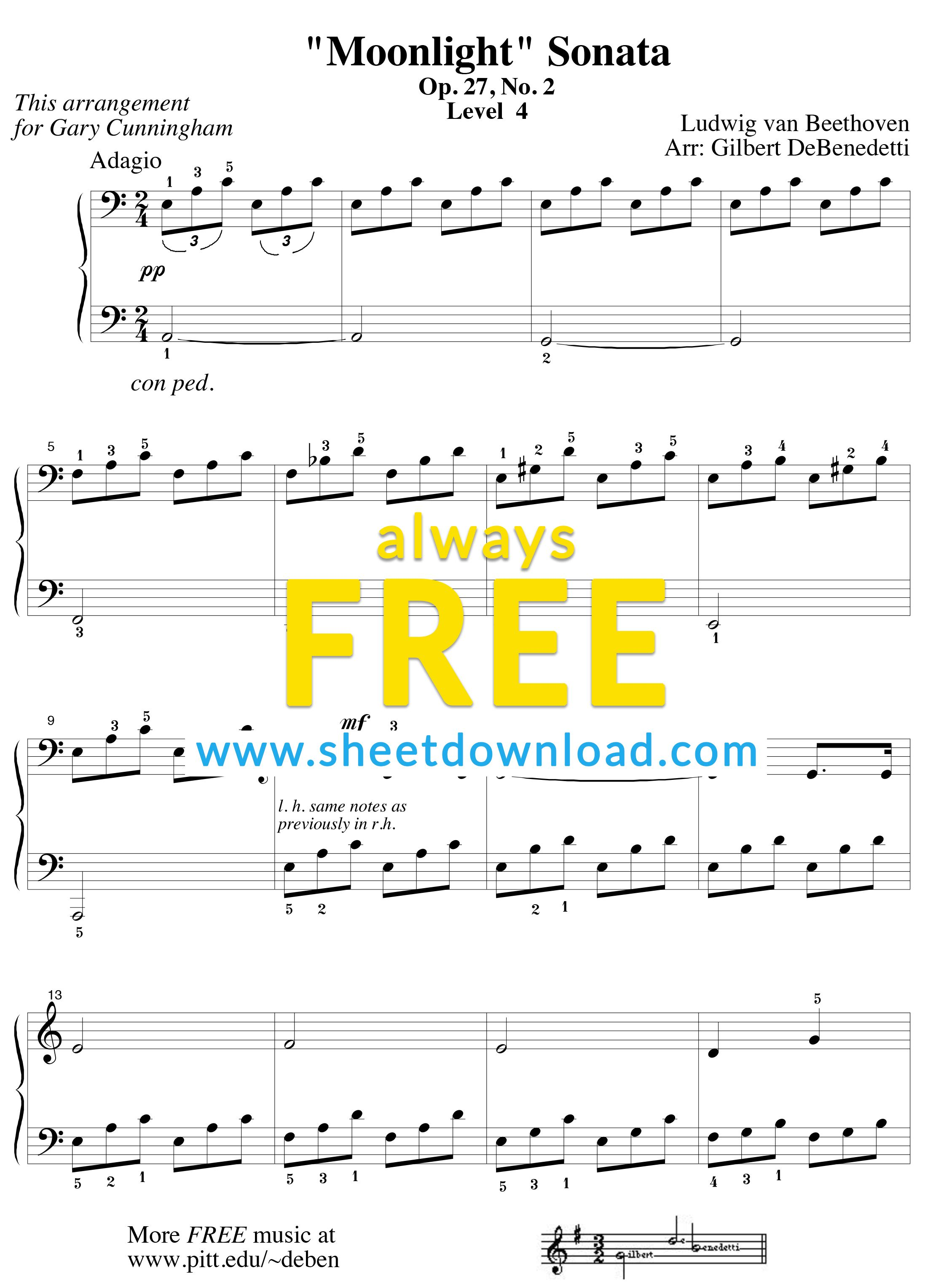 Download And Print Free Piano Sheet Music Pdfs From Sheetdownload