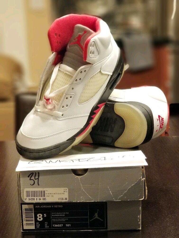 low priced b1f48 7a81b eBay  Sponsored Nike Air Jordan 5 Retro Fire Red 136027-101 (2000 Release